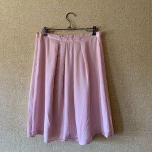 Banana Republic Pleated Blush Pink Skirt